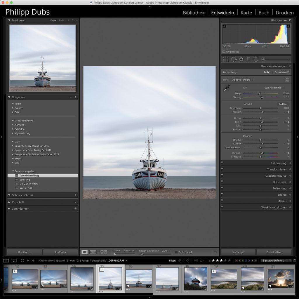 FotoTipp LR Preset-Grundeinstellungen