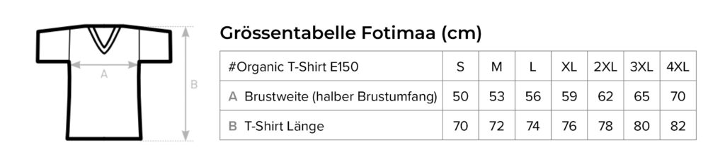 Grössentabelle-Fotimaa-T-Shirts